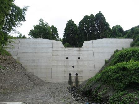 下伍位軒川2号砂防ダム工事