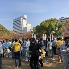 社会貢献活動(天神地区の清掃活動)2018117